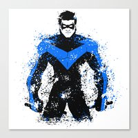 nightwing Canvas Prints featuring Nightwing by fouur