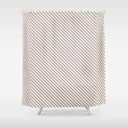 Warm Taupe Stripe Shower Curtain
