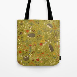 Hedgehog Meadow Tote Bag