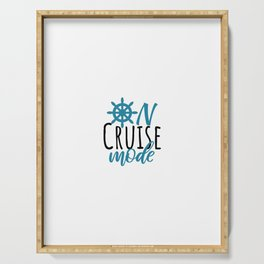 On Cruise Mode, cruising trip, Apparel Swim Coverup Boating  Serving Tray