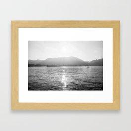 Como Framed Art Print