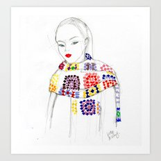 Rainbow Crochet Art Print