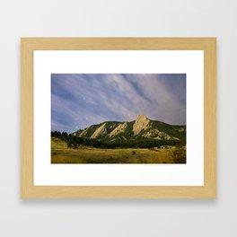 Starry Flatirons Framed Art Print
