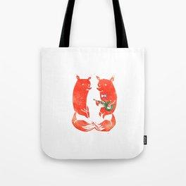 Mister Fox in love Tote Bag