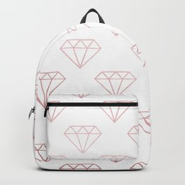 Simply Shimmer Diamonds in Rose Gold Sunset Backpack