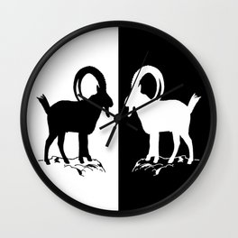 Alpine Ibex Wall Clock