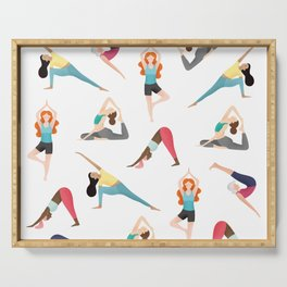 Yoga Pattern Serving Tray