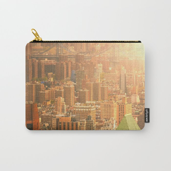 New York City Skyline Rooftops Carry-All Pouch