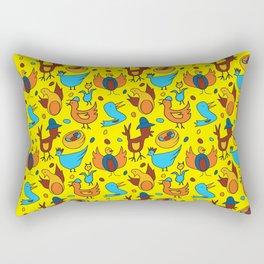 Crazy Birds Rectangular Pillow