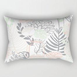 Cucumber Peaches and Cream Mason Jar wedding Rectangular Pillow