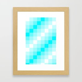 Design3 Cyan Framed Art Print