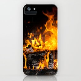 fireplace iPhone Case