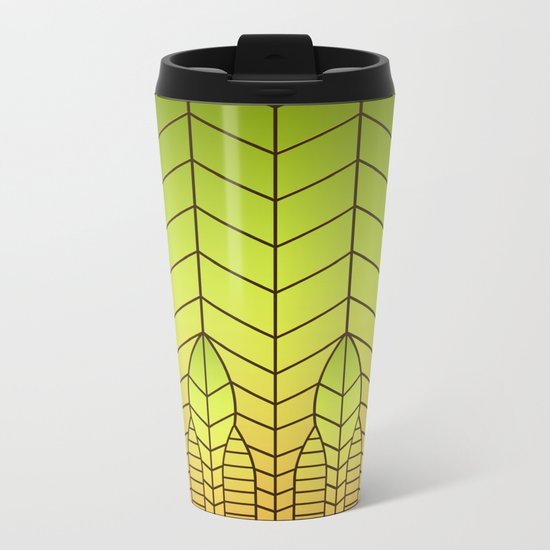 LET THERE BE LIGHT (abstract geometric) Metal Travel Mug