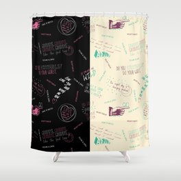 Doodlethrob (Tegan and Sara) two tone Shower Curtain