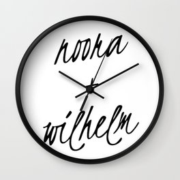 Noora+William Wall Clock