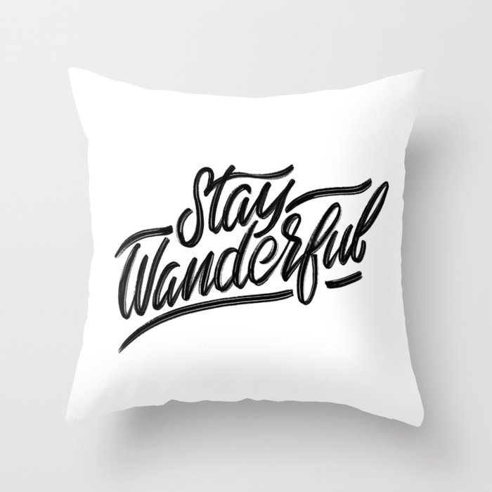 Stay Wanderful Throw Pillow