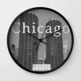 Chicago: Marina City Towers Wall Clock