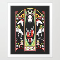 deco Art Prints featuring Spirited Deco by Ashley Hay