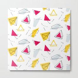 Red yellow geometric Metal Print