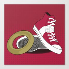 Sonic Converse - Red Canvas Print
