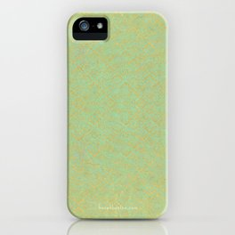 Green and Gold Pattern iPhone Case
