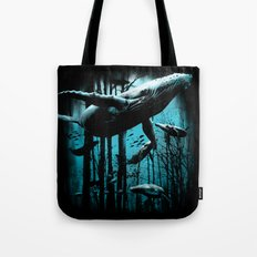 Whale Forest Tote Bag