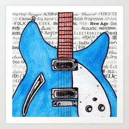 Music for the Soul & Spirit - Blue Series Art Print