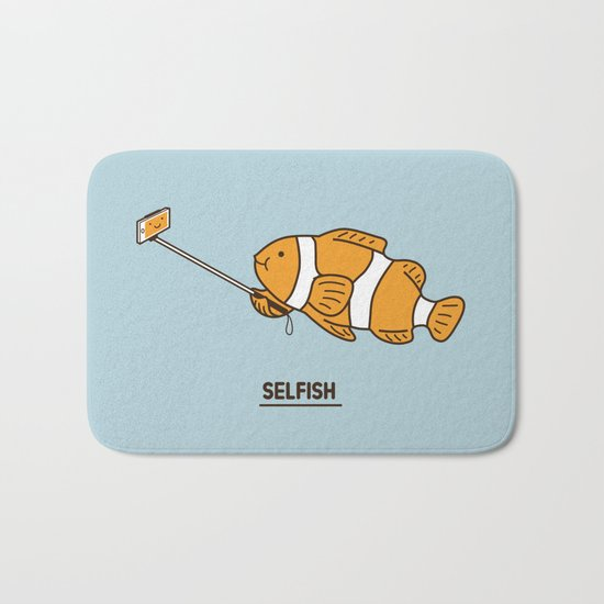 Selfish Bath Mat