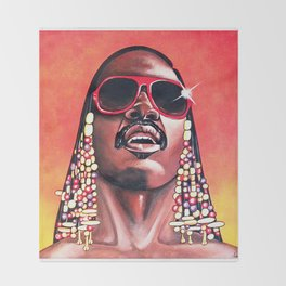 Stevie Wonder Throw Blanket