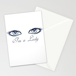 The lady's eyes - I'm a lady! Stationery Cards