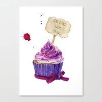 cake Canvas Prints featuring Cake by Iskoskikh Sveta