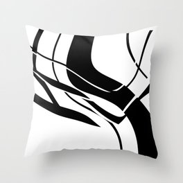 Organic No. 7 Black & White Graphic Art #minimalism #decor #society6 Throw Pillow