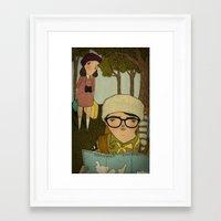 moonrise kingdom Framed Art Prints featuring Moonrise Kingdom by Mai Ly Degnan