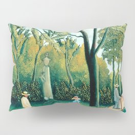 """Henri Rousseau """"The Luxembourg Gardens. Monument to Chopin"""" Pillow Sham"""