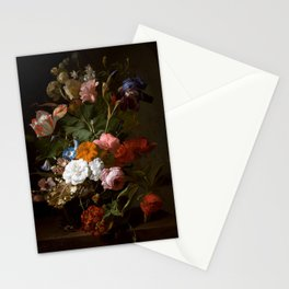 """Rachel Ruysch """"Vase with Flowers"""" Stationery Cards"""