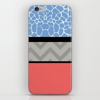 preppy iPhone & iPod Skins featuring Confused Preppy Prints by Raizhay Lough