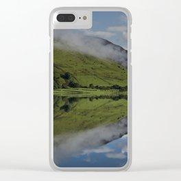 Reflection In The Llyn Mwyngil Clear iPhone Case
