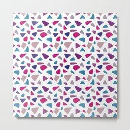 Pink Purple Gemstone Tile Pattern Metal Print