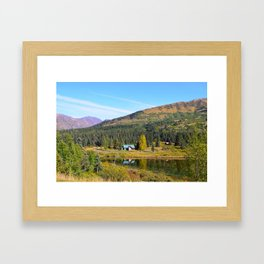 Lake Retreat - Alaska Framed Art Print
