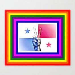 Panama World Peace Flag Canvas Print