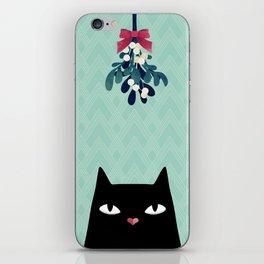 Mistletoe? (Black Cat) iPhone Skin