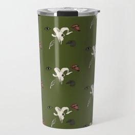 Creepy Pattern Green Travel Mug