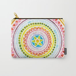 Rainbow Chakra Watercolor Mandala Carry-All Pouch