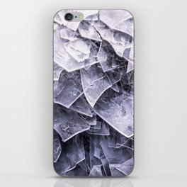 Cracked Ice Tiles In Lake Shore #decor #buyart #society6 iPhone Skin