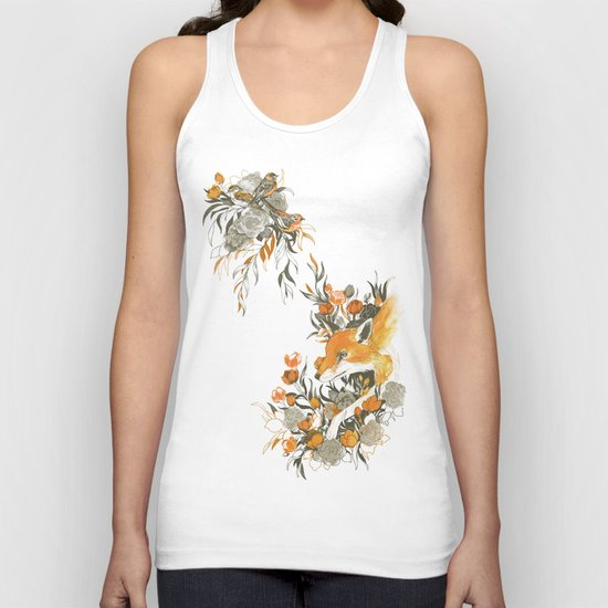 fox in foliage Unisex Tank Top