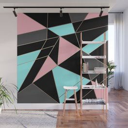 Abstraction . 5 geometric pattern Wall Mural
