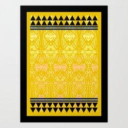 Blue Night Tribal Print Art Print
