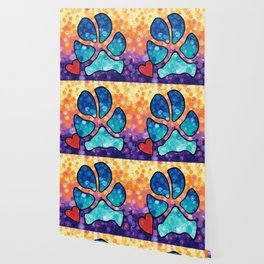 Puppy Love - Colorful Dog Paw Art By Sharon Cummings Wallpaper