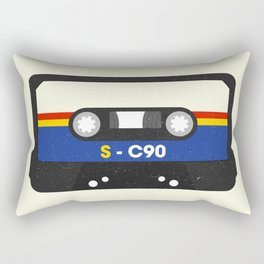 Black Cassette #2 Rectangular Pillow