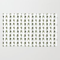 ninja turtle Area & Throw Rugs featuring Ninja Turtle Pattern by Neal Julian